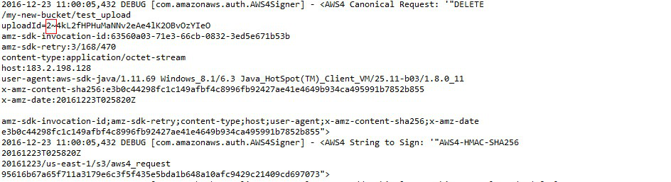 Bug #18355: when call the multiparts upload API TransferManager