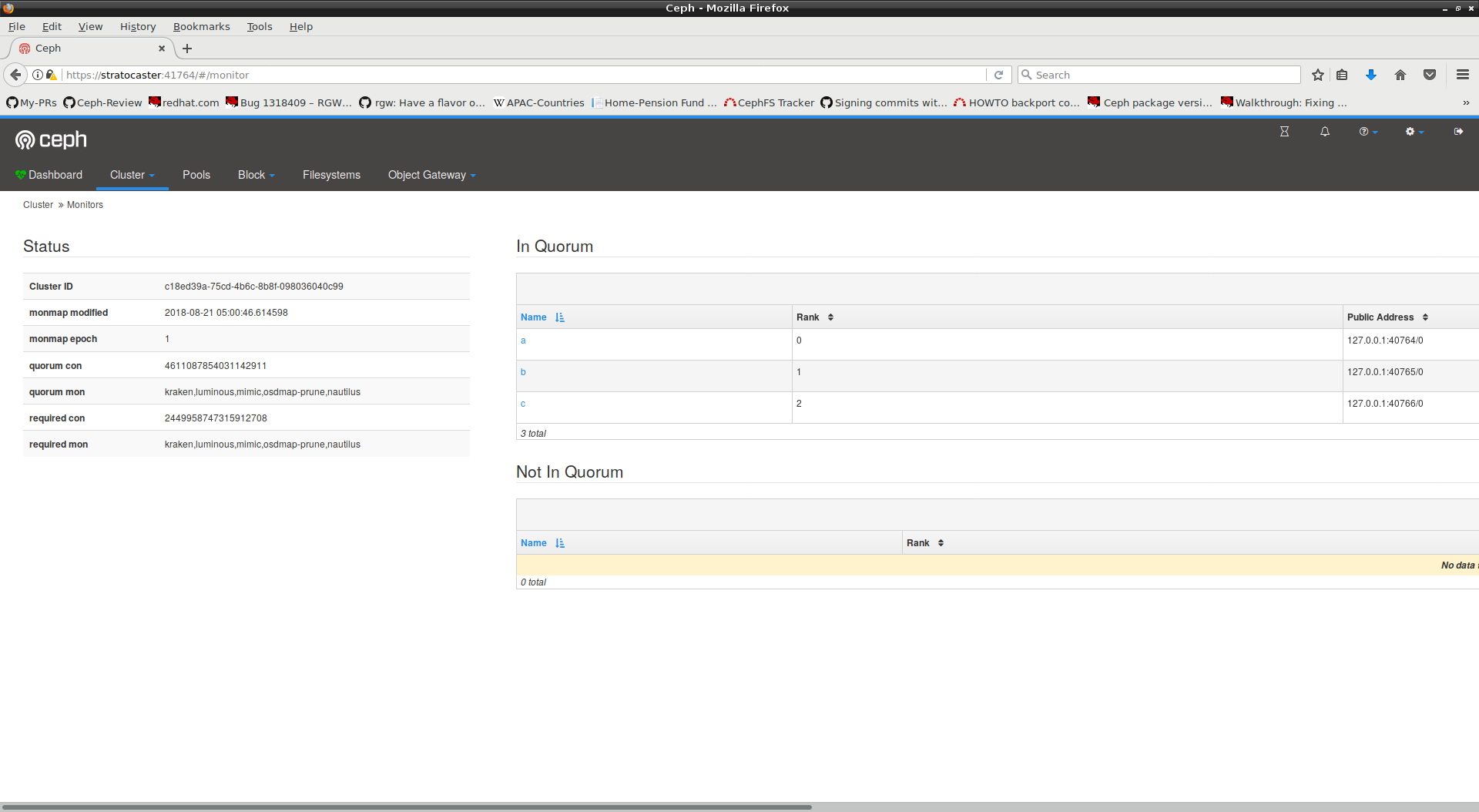 Bug #26999: mgr/dashboard: In Quorum table size changing in Firefox